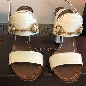 GUCCI Women's Heels - Size 37 (7.5 in US) - White